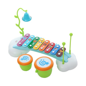 Toyshine Rainbow Piano Xylophone with 8 Sound and Drums (Multicolour)