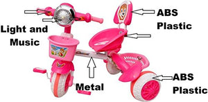 Toyshine Premium Baby Tricycle, Baby Cycle Ride-on Bicycle, ABS Plastic, Unbreakable, Pink, 3-5 Years