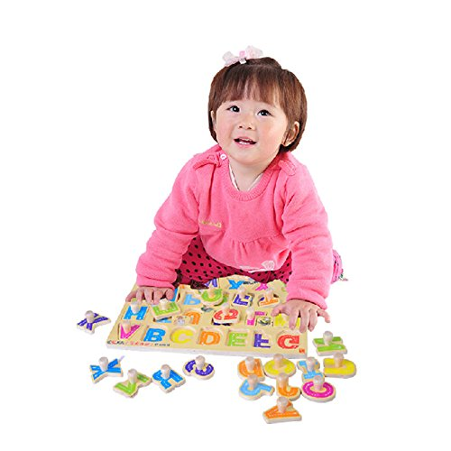 Toyshine Wooden English Capital Letters Puzzle Toy, Educational and Learning Toy - ABC