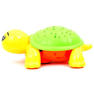 Toyshine Bump and Go Turtle Toy with 3D Lights, Music and Projection