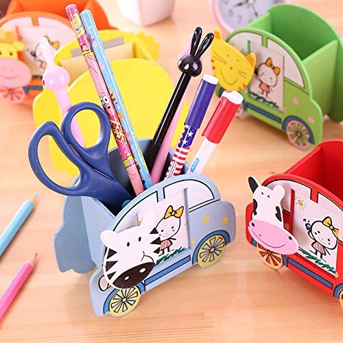 Toyshine Party Favor for Kids Wooden Stationary/Pencil Holder with Photo Frame (Pack of 12)