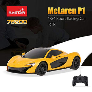 Rastar 1:24 McLaren P1 Remote Control Car, with Lights, Yellow, TOYSHINE - 60