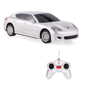 Rastar 1:24 Porsche Panamera Remote Control Car, with Lights, Silver, TOYSHINE - 48