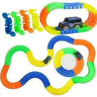Toyshine Luminous Track Set Toy with Flexible Formations 176 Pcs