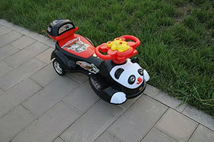 Toyshine Big Panda Magic Car, Ride-on Toy, White Black