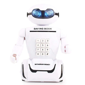 Toyshine Electronic Password Robot Piggy Bank Money Box Desk Lamp Toys