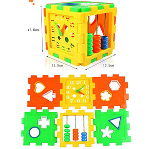 Toyshine Educational ALL in ONE Blocks set - Multi-skill: Colors, Counting, ABC, Maths, Clock, Blocks, Puzzle and much more - Set of 2