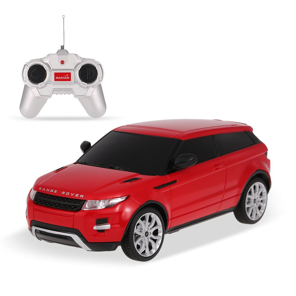 Rastar 1:24 Range Rover Evoque Remote Control Car, with Lights, Red, TOYSHINE - 50