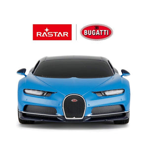 Rastar 1:24 Bugatti Chiron Remote Control Car, with Lights, Blue, TOYSHINE - 16