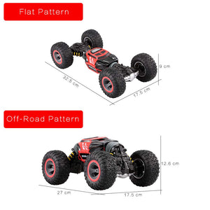 Toyshine 1:16 4WD Double Sided Stunt One Key Transform Rock Crawler Off-Road Car, Assorted Color