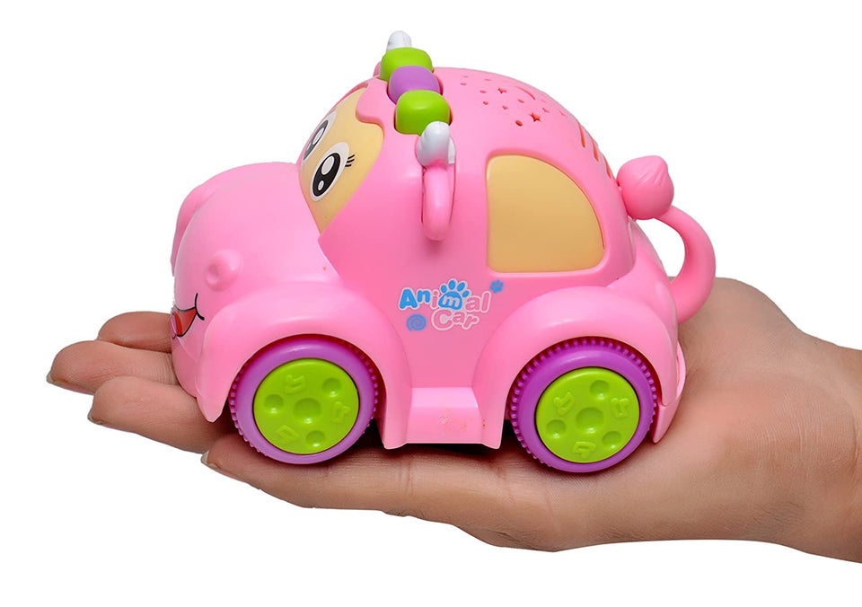 Toyshine Musical Car Toy with Interactive Functions, Bump and Go, Assorted Design/Color