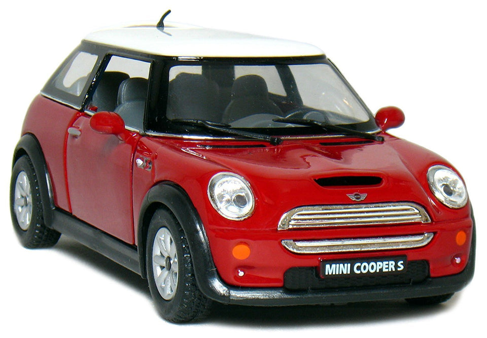Toyshine 1:28 Metal Die Cast Car Mini Cooper S, Opening Doors, Vehicle Toy Car, 5 Inches (Color May Vary)