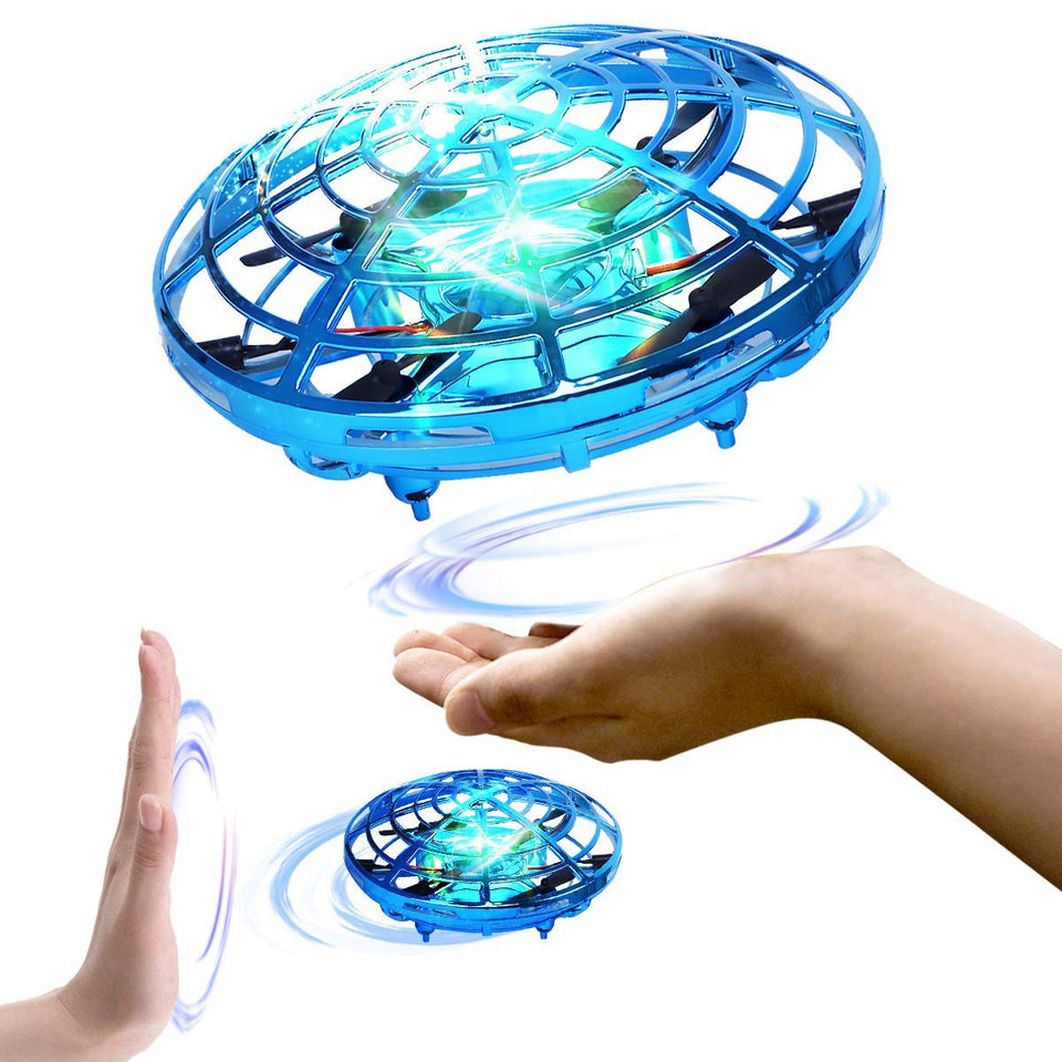 Toyshine UFO RC Flying Toy, Infrared Induction Flying Ball, Drone Light for Kids, Teenagers, Assorted Color