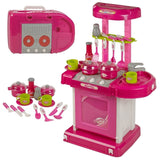 Toyshine Luxury Battery Operated Kitchen Set With Lights, Sound and Carry Case