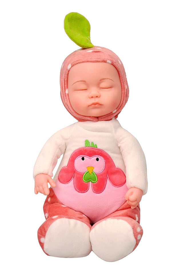 Toyshine Sleeping Baby 9 inches Soft Baby Toy Doll with Music Effect, Touch Sensors, White