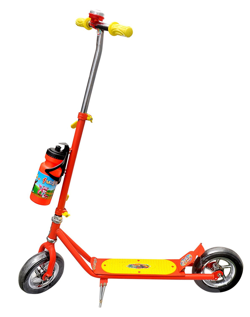 Toyshine Superior Height Adjustable Scooter Runner Ride-on with Heavy wheels, Handlebar Bell, Red/Blue, 5-10 Years