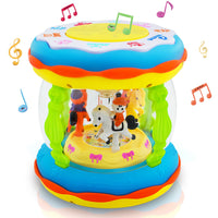 Toyshine Merry-go-Round Drum Touch Panel 3D Lights and Music, Big