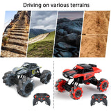 Toyshine C Drift Cars with Radio Remote Control, 360°Rotation Stunt Racing Car, Offroad Truck Mountain Cars with The Lights, 2.4Ghz RC Drift Cars Mountain Buggy