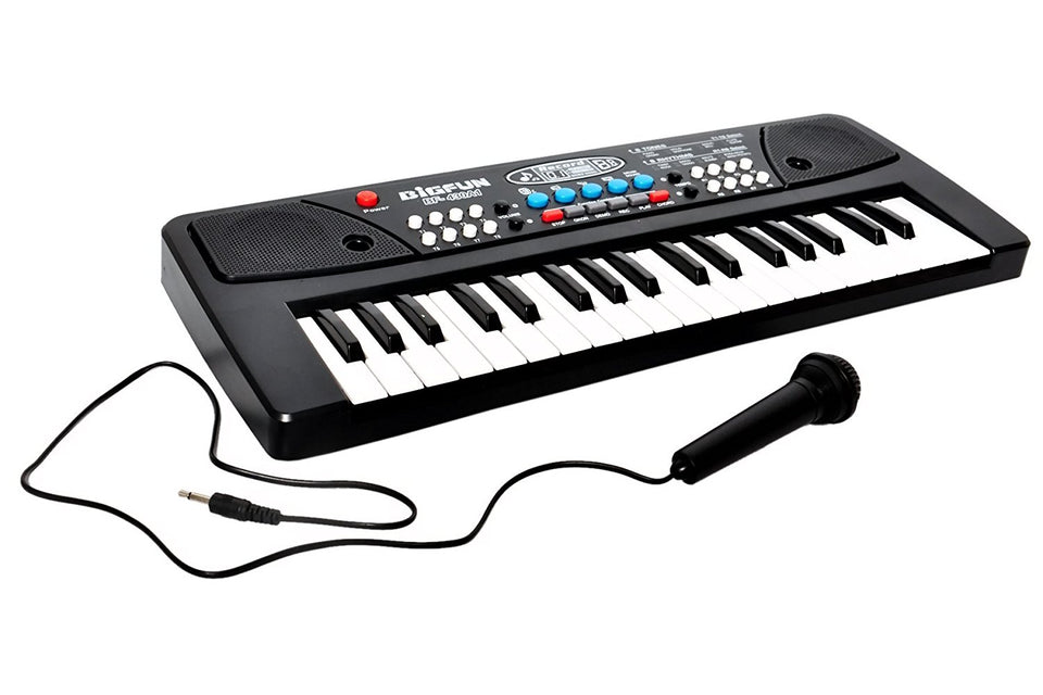Toyshine 37 Key Piano Keyboard Toy with DC Power Option, Recording and Mic