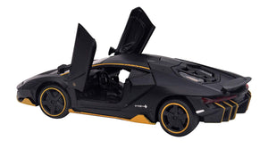 Toyshine 1:32 Metal Lamborghini Centenario, Opening Doors, Vehicle Toy Car, 6 Inches, Music and Lights, Assorted Color