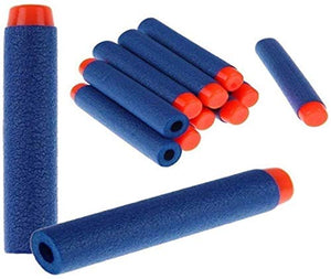 Toyshine 50 Pcs Foam Dart Refill Pack Bullets, Round Head, Blue