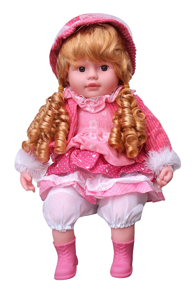 Toyshine 20 Inches Rhymes Singing Boy Doll, Touch Sensors, Assorted Design