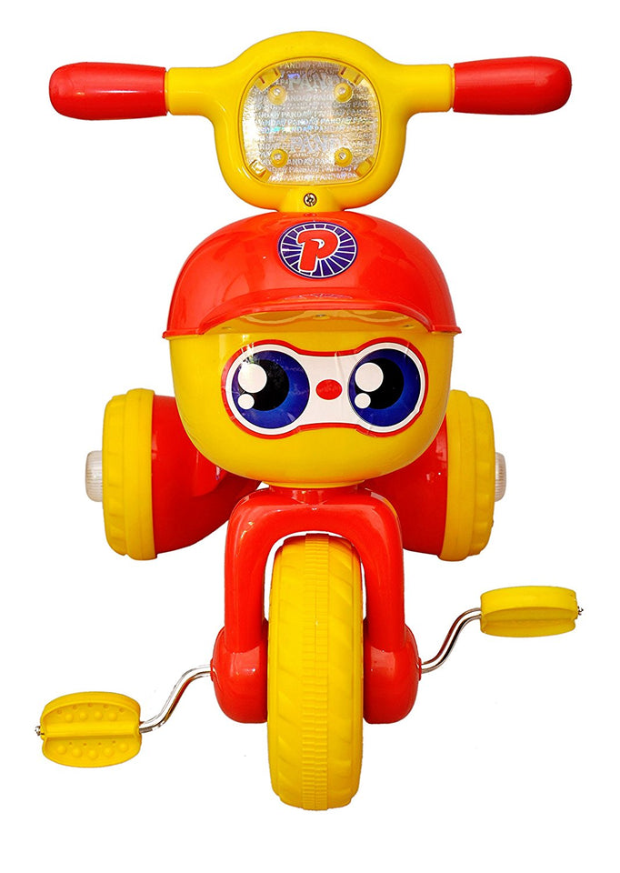 Toyshine Crazy Baby Tricycle, Baby Cycle, Ride-on Bicycle, ABS Plastic, Unbreakable, Red, 3-5 Years