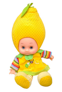 Toyshine 18 inches Singing Baby Soft Doll, Touch Sensors, Yellow Dots