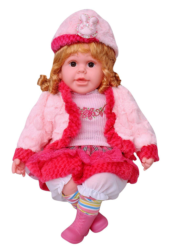 Toyshine 18 inches Rhymes Singing Boy Doll, Touch Sensors, Curly Hair, Assorted Design