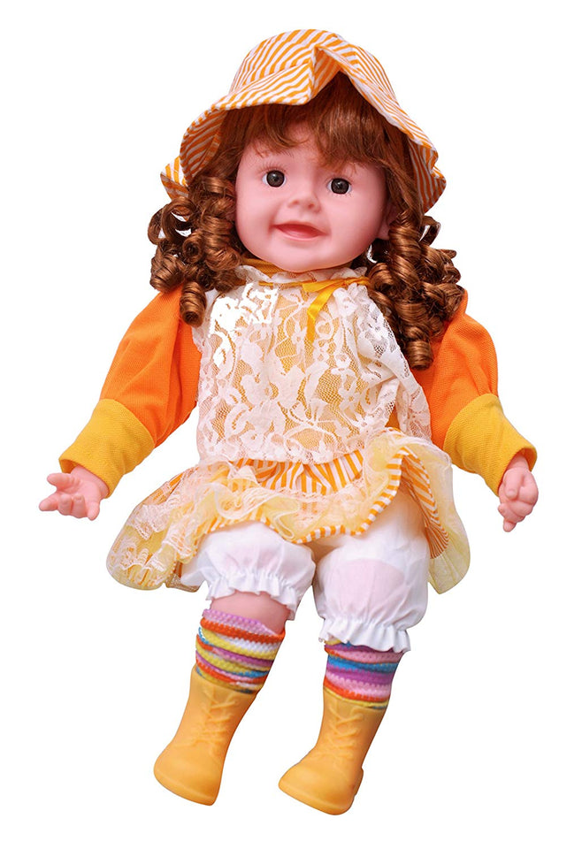 Toyshine 18 inches Rhymes Singing Boy Doll, Touch Sensors, Dark Hair, Assorted Design