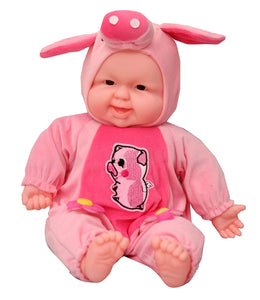 Toyshine Animal Shaped Baby Doll Toy with Music, Assorted Color
