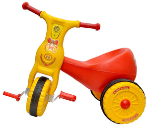 Toyshine Ducky Baby Tricycle Ride-on Bicycle, ABS Plastic, Unbreakable, Red, 1-2 Years