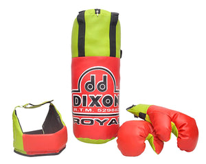 Toyshine Dixon Kids Royal Polyester Boxing Kit with Gloves and Head Guard, Small (18 Inches) - 3-6 Years, Red (SSTP)