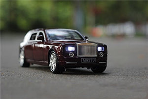Toyshine 1:24 Metal Die Cast Rolls Royce, Opening Doors, Vehicle Toy Car, 8 Inches, Music and Lights, Assorted Color