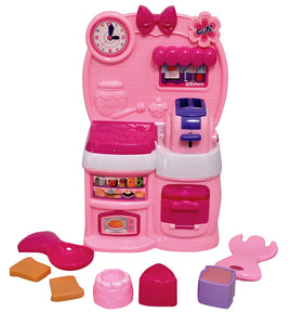 Toyshine Cooking Kitchen Toy Set, Battery Operated Play Set with Music and Lights