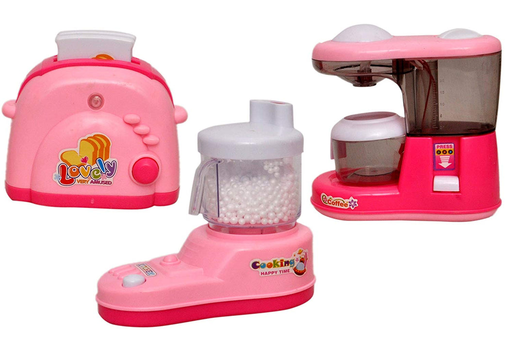 Toyshine Dream Household Kitchen Set Household Toy, Battery Operated, Assorted Set of 3