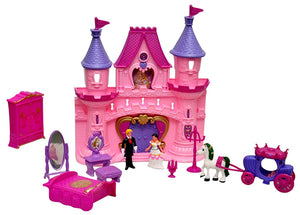 Sunshine Foldable Castle Doll House with Music, Lights and Accessories - 2