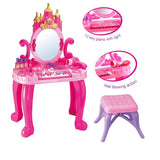 Sunshine Castle Table And Chair With Music, Lights And Working Blower - Pink