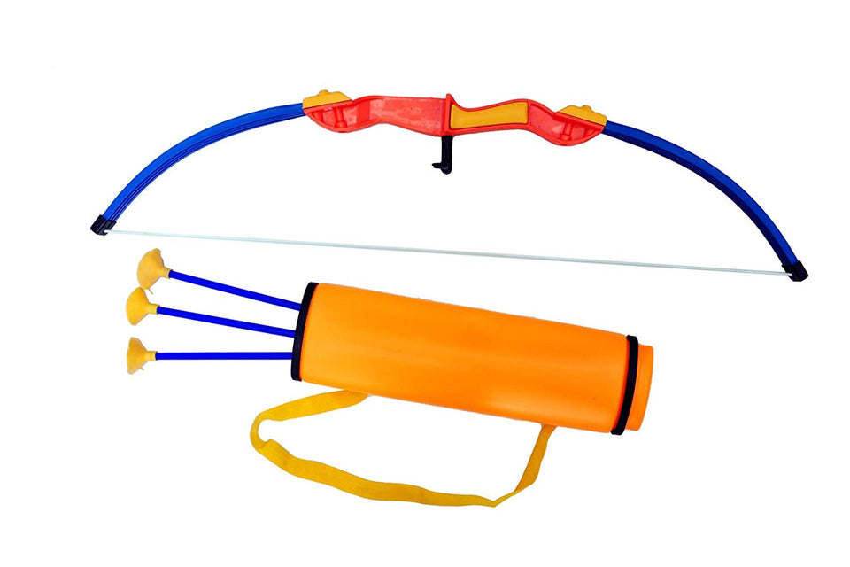 Sunshine Big Size Archer Set with Quiver and 3 Suction Arrows - 2 (Multicolour)