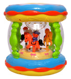 Toyshine Merry-Go-Round Drum with 3D Lights and Music, Small (Multicolour)