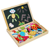 Toyshine Fantastic Wooden Multipurpose Easel Children's Jigsaw Puzzle Drawing Board Wooden Toy