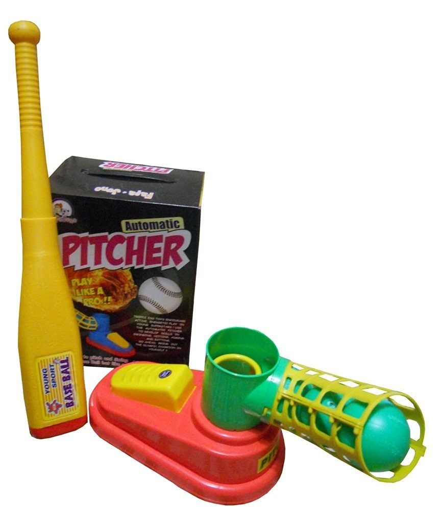 Toyshine Automatic Plastic Game, Unbreakable, Includes 1 Bat, 3 Balls(Multicolour