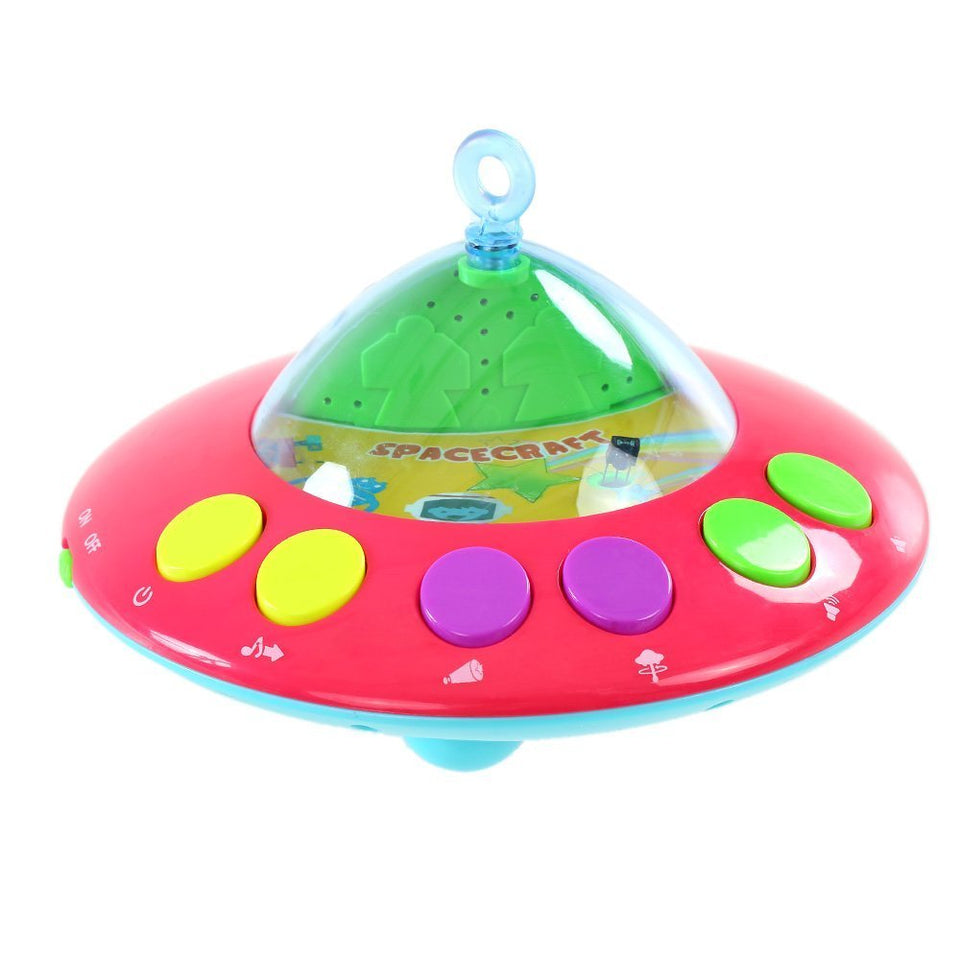 Toyshine presents kids' Dreamy Bed Ring Cot Mobile with Music and lights, (Multi-colour)
