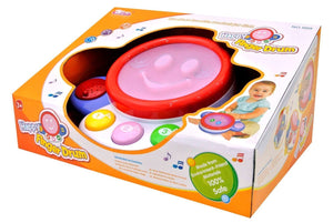 Sunshine Gifting Activity Play Drum for Kids with Music, Lights, and Drum Beats