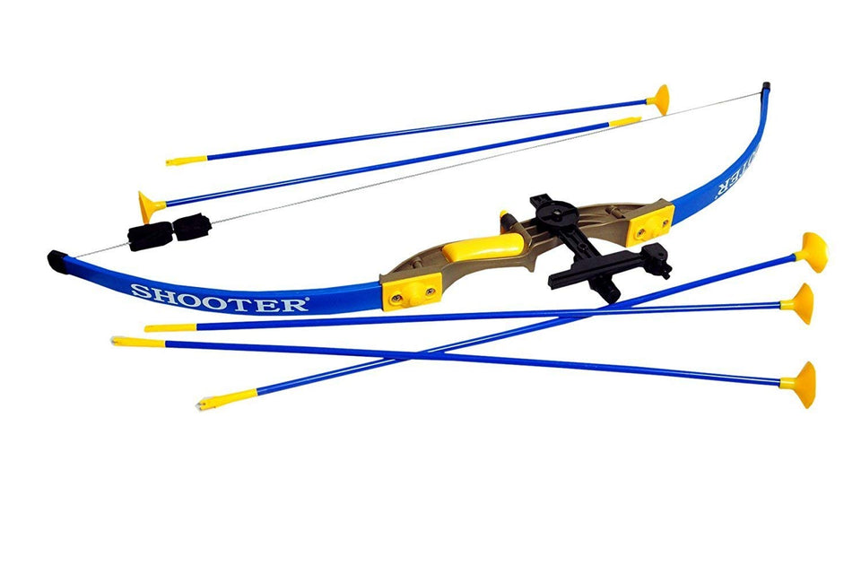 Toyshine Archer Bow Toy with 5 Arrows and Strong String (Multicolour)