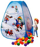 Toyshine Snow Ball Pool Pop-Up Kids Play Tent House Toy Picnic Hut, 20 Balls Included