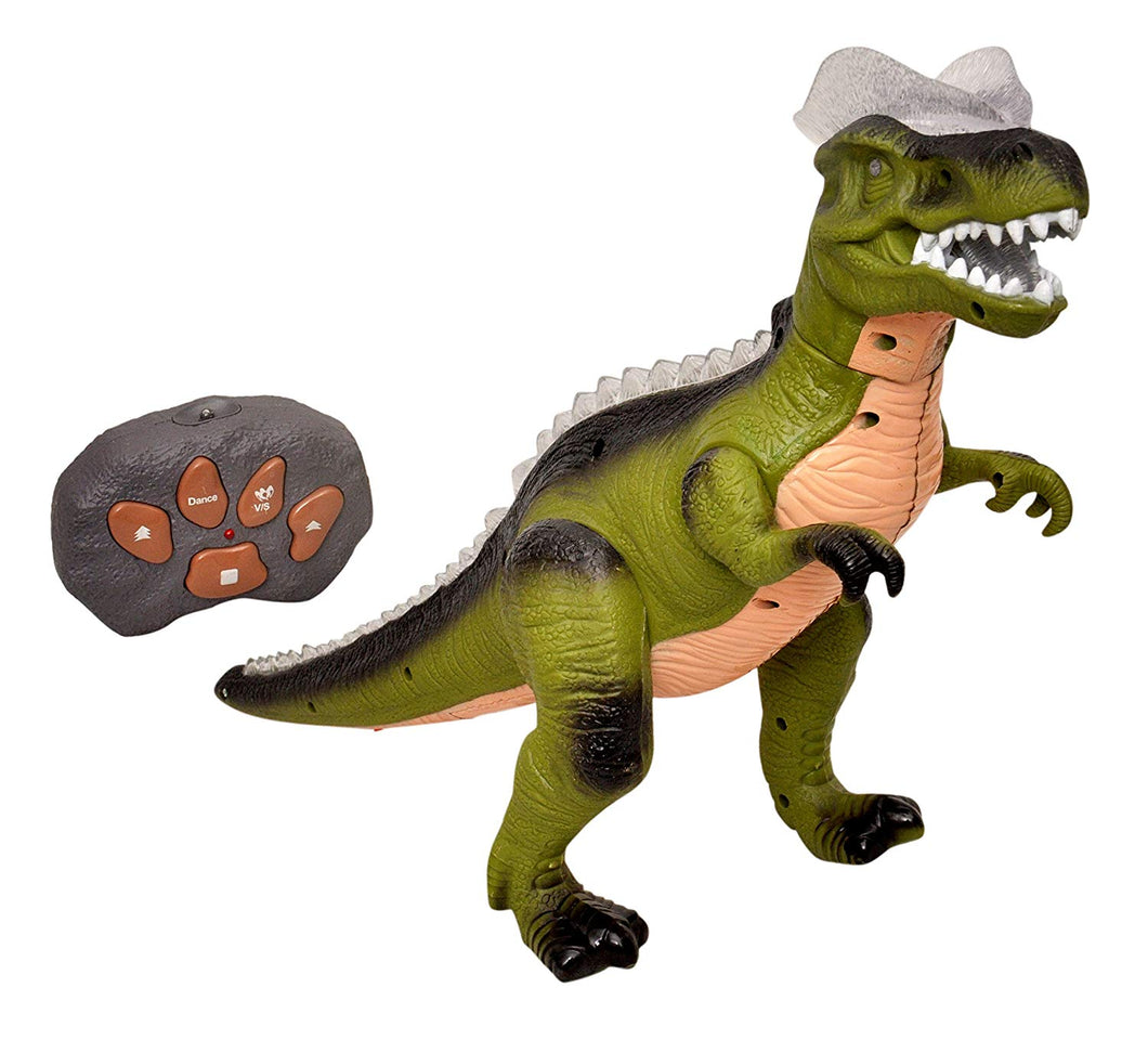 Sunshine Toyshine 12 Inches Action Dinosaur With Walking And Dancing Function - Multi Color