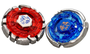 Toyshine 2-in-1 Beyblades Metal Fighter with Fight Ring 2 Launchers and Stadium (Multicolour)