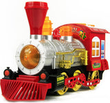 Toyshine Bubble Engine Toy with Music, Lights, Real Action (Red)