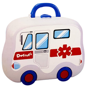 Toyshine Carry Along Doctor Set Pretend Play Toy, 15 Accessories, Briefcase Model